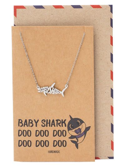 Ryan Baby Shark, Daddy Shark, Mommy Shark Pendant Necklace Best Jewelry Gifts For Family
