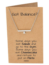 Janine Balance Pendant Necklace for Women Greeting Card - Quan Jewelry