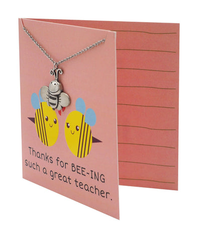 Lauren Teacher Gifts Bee Necklace Thanks for BEE-ING such a Great Teacher!