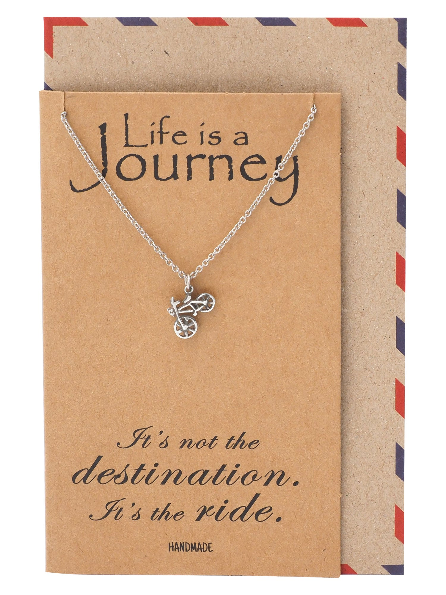 Flo Life is a Journey Necklace Gifts for Cyclists