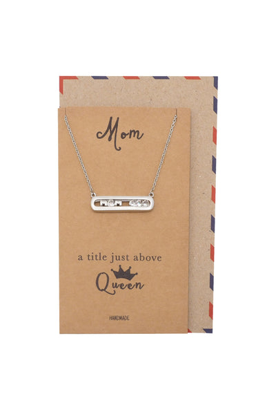 Devin Queen Mom Pendant Necklace, Gifts for Mom, Mother's Day Gift