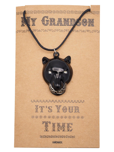 Inigo Black Panther Inspired Necklace, Gift for Him, Gift for Grandson with Greeting Card - Quan Jewelry