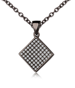 Melody Black Plating Diamond Charm Earrings, Necklace, Gifts for Mom, Best Friends
