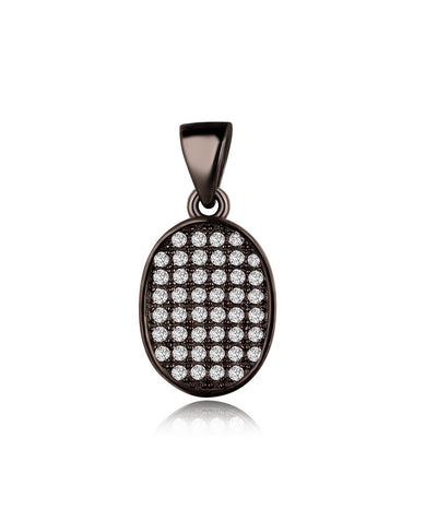 Aria Black Plating Oval Charm Earrings, Necklace, Gifts for Mom, Best Friends - Quan Jewelry