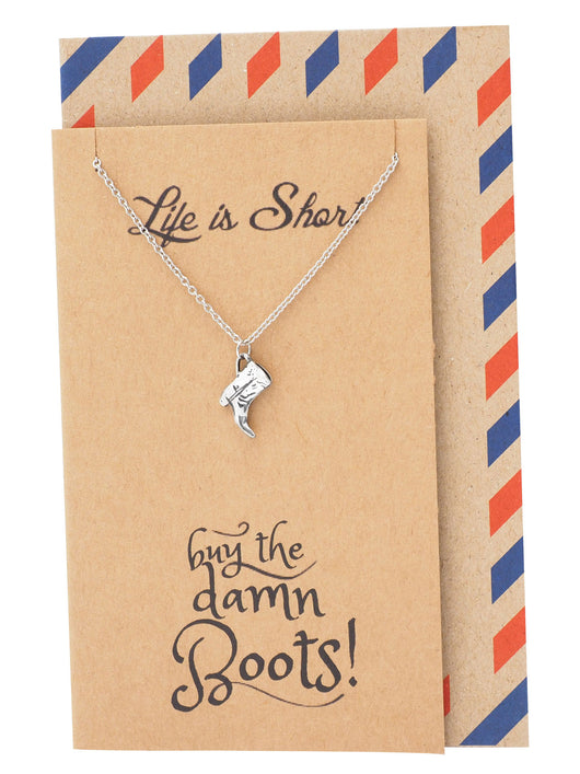 Sierra Boot Jewelry Necklaces For Women Funny Birthday Cards Quan