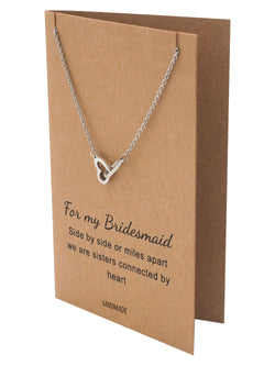 Trease Bridesmaid Gifts Charm Arrow Necklace, Bridesmaid Jewelry - Quan Jewelry