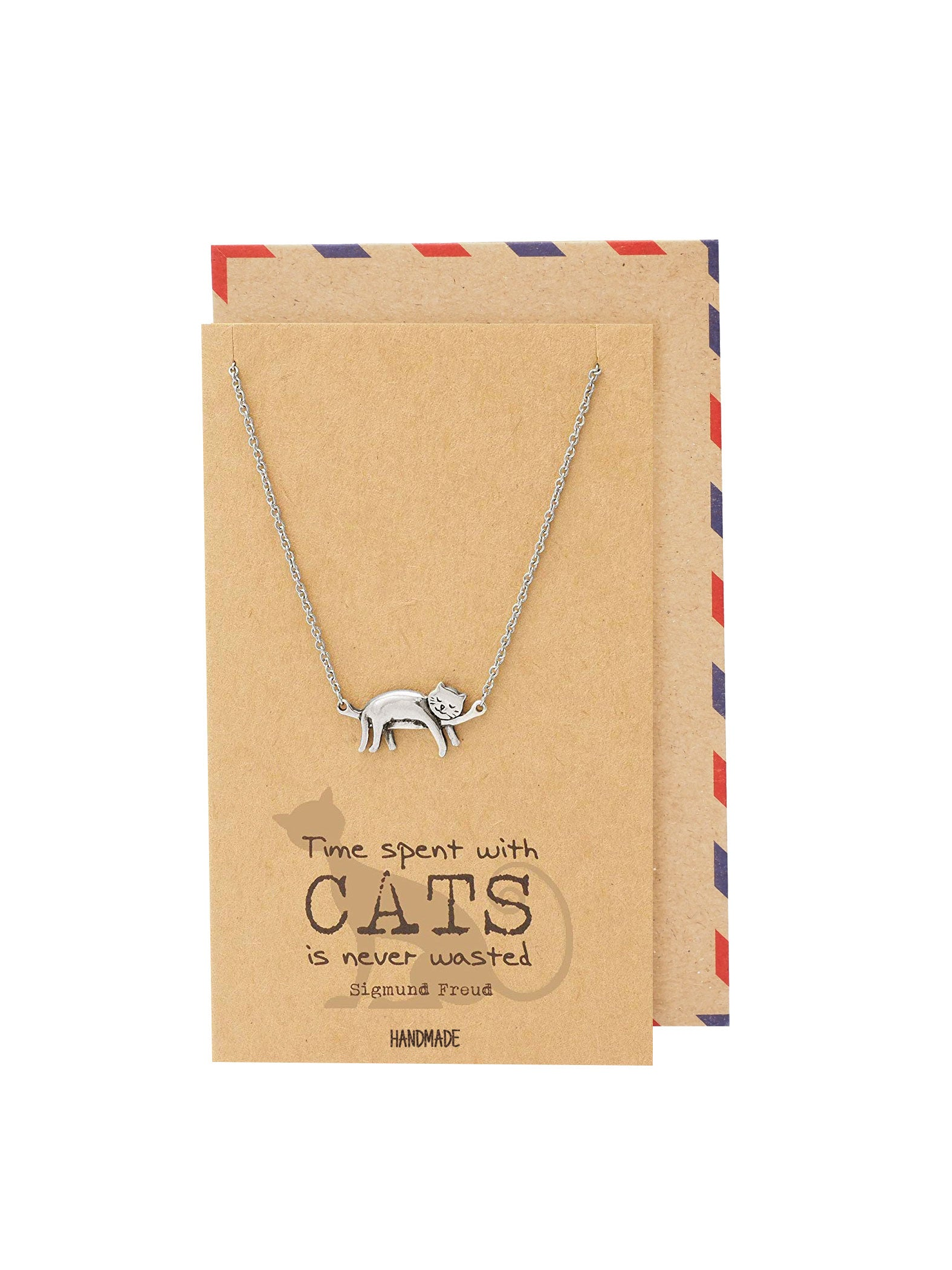 Keira Cat Necklace Quotes Greeting Card