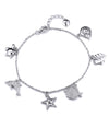 Attina Charm Bracelets for Women, Turtle Dolphin Starfish Seashell Charms, 925 Sterling Silver - Quan Jewelry