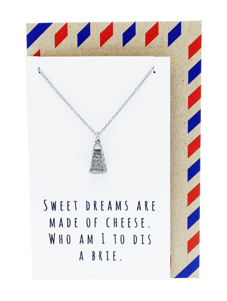 Rei Kitchen Charm Necklace, Funny Greeting Card, Gift for Chefs, Silver / White - Quan Jewelry - 10