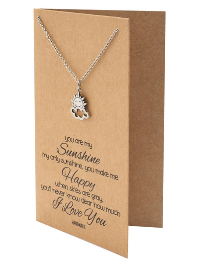 Ellen Sun and Cloud Charms Necklace