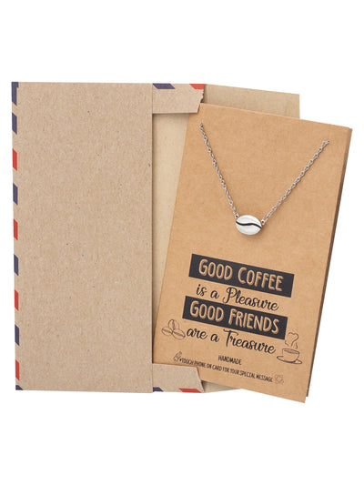 Geneva Coffee Bean Pendant Necklace