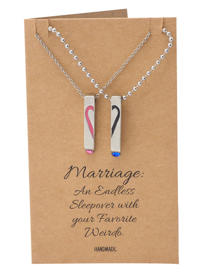 Mildred Couple Bar Pendants with Swarovski Crystals