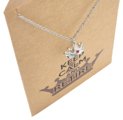 Jaimee Queen's Retirement Necklace with Crown Pendant