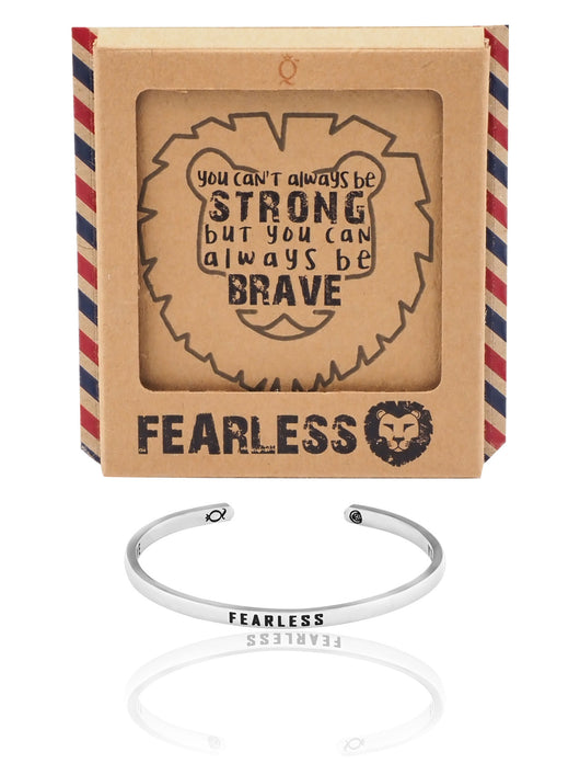 Nikki Fearless Lion Cuff Bracelet, Inspirational Jewelry and Greeting Card