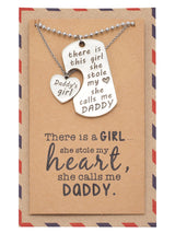 Liam Father's Day Card Father Daughter Personalized Engraved Necklaces