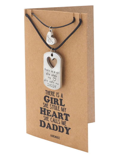 Tanya Father and Daughter Personalized Engraved Necklaces Set of 2