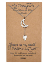 Maia Daughter Necklace, Gifts for Her, Inspirational Quote on Greeting Card