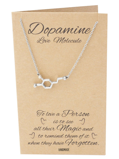 Lara Serotonin, Dopamine, Acetylcholine Molecule DNA Necklace