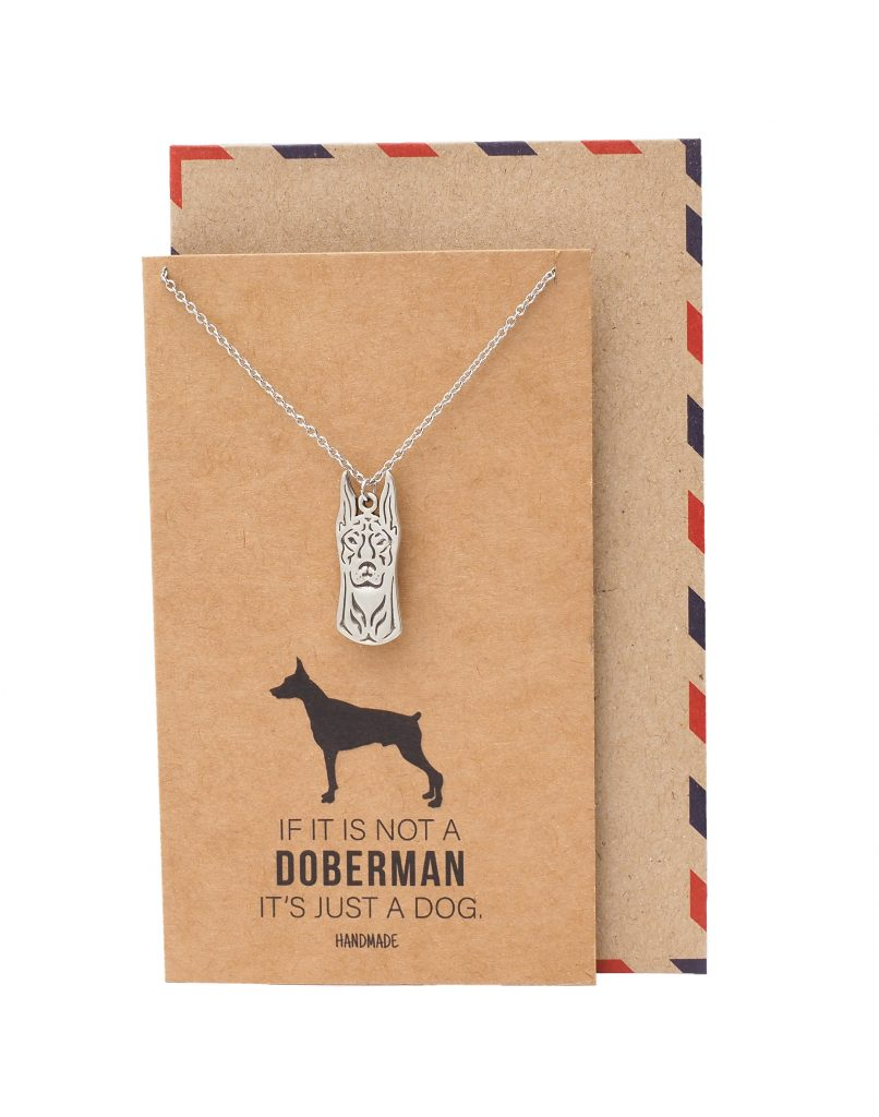 Jolene Doberman Head Pendant Necklace, Gifts for Dog Lovers