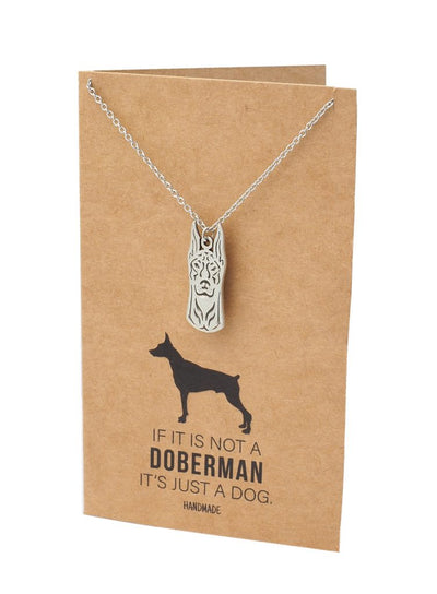 Jolene Doberman Head Pendant Necklace