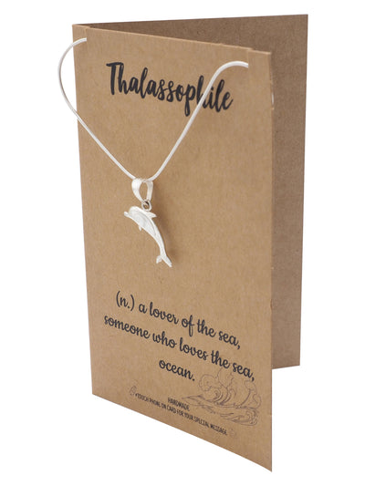 Araya Dolphin Necklace, 925 Sterling Silver, 18-inches