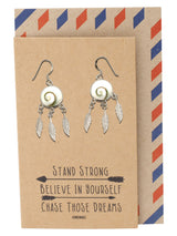 Retta Bohemian Boho Dream Catcher Earrings, Gifts for Women, 925 Sterling Silver