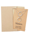 Rosanne Sisters Set of 2 Matching Necklaces with Engraved Ring Pendants, Gifts for Sisters