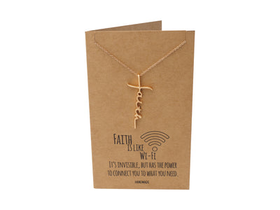 Jolee Faith Pendant Necklace in Rose Gold Tone