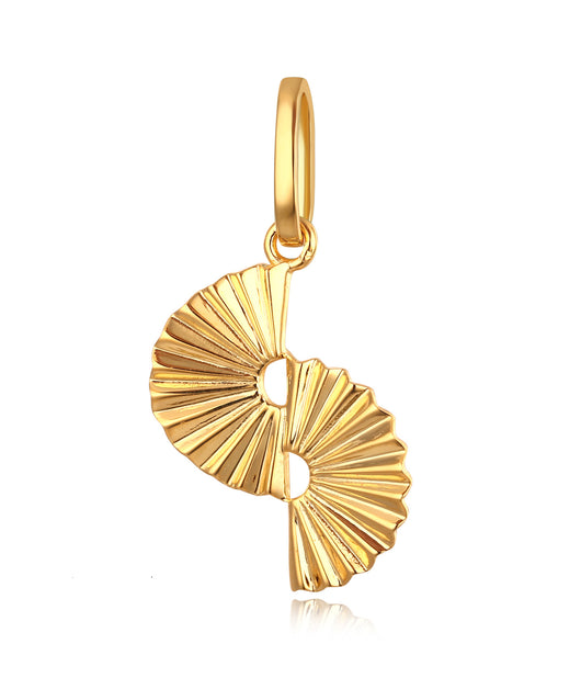 Everly 18K Yellow Plating, Elegant Fan Charm Necklace, Gifts for Mom, Best Friends, Gold Tone - Quan Jewelry