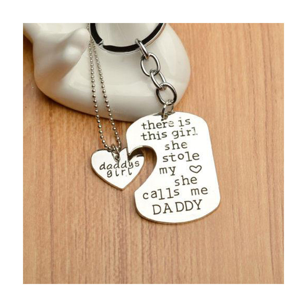 Father Daughter Gifts Part - 36: Father Daughter Keychain Jewelry Set Perfect Fatheru0027s Day Gift By Quan  Jewelry ...