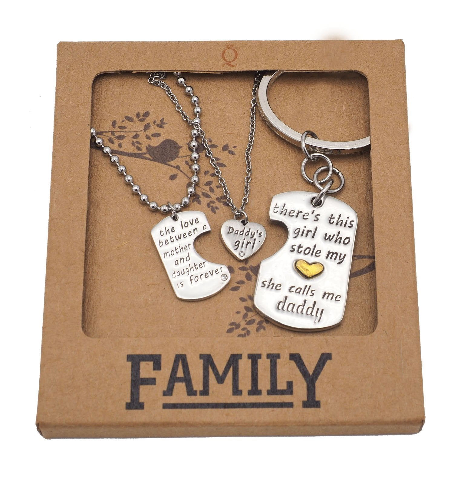 Joie Father Mother Daughter Necklace Set, Gifts for ...