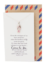 Fight Cancer Gifts, Cancer Awareness Necklace - 10% donated to NBCF - Quan Jewelry