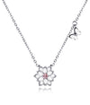 Ariella Lotus Flower Butterfly Necklace