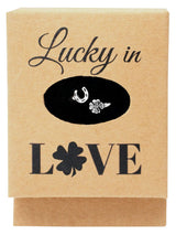 Freya Luck in Love Horseshoe and Four Leaf Clover Ring - Quan Jewelry