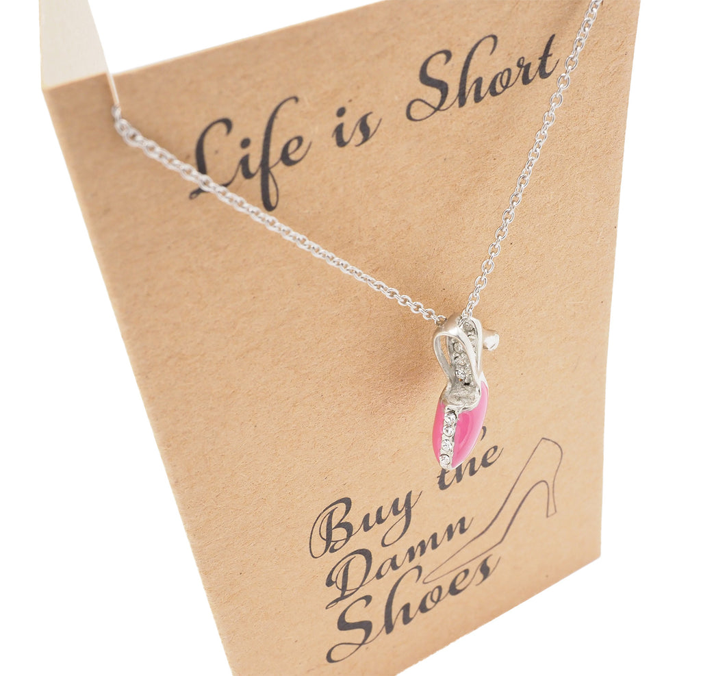 Aimee Shoe Jewelry Charm Necklaces for Women, Funny Gifts