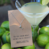 Mela Funny 30th Birthday Cards, Margarita Jewelry Charm Necklace,  - Quan Jewelry - 4