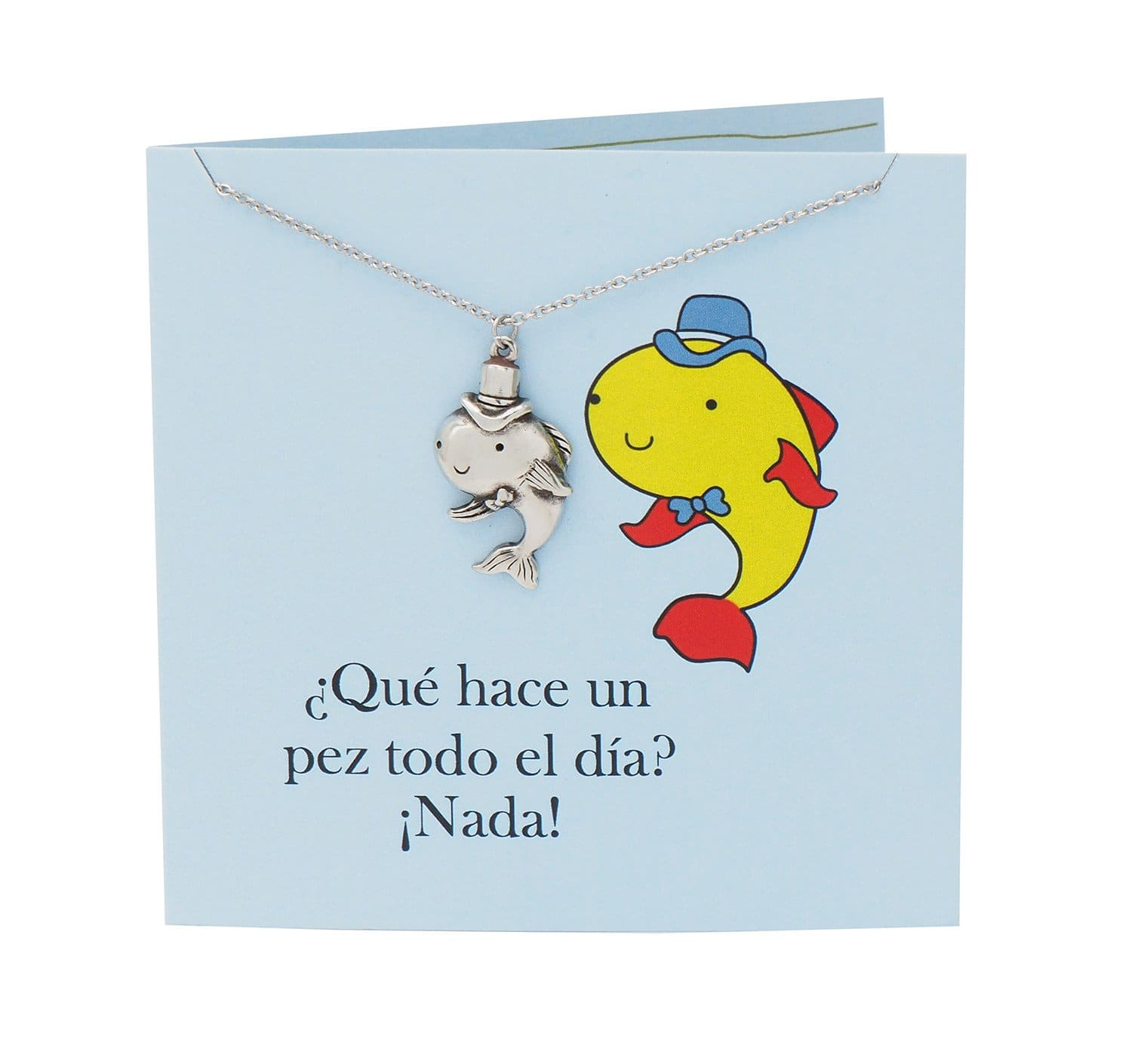 Safira Fish Necklace Funny Puns Spanish Birthday Cards Quan Jewelry – Fish Birthday Cards