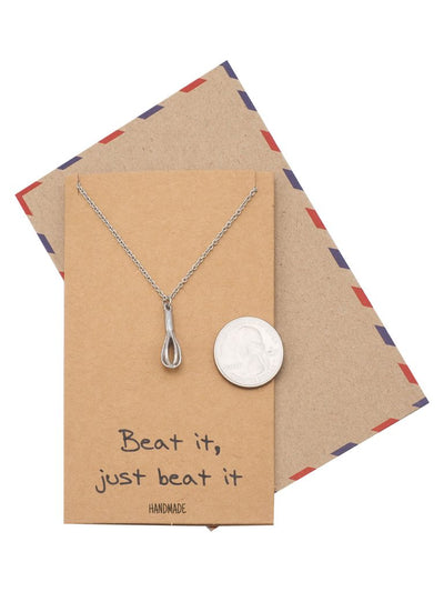 Elizabeth Cute Whisk Egg Beater Pendant Necklace, Gift for Baker, Inspirational Quote