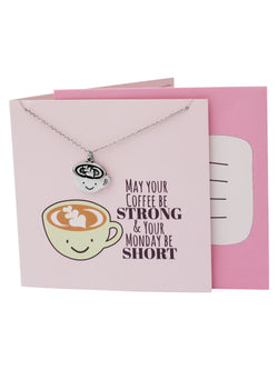 Olive Funny Puns Birthday Cards, Necklace Gifts for Coffee Lovers