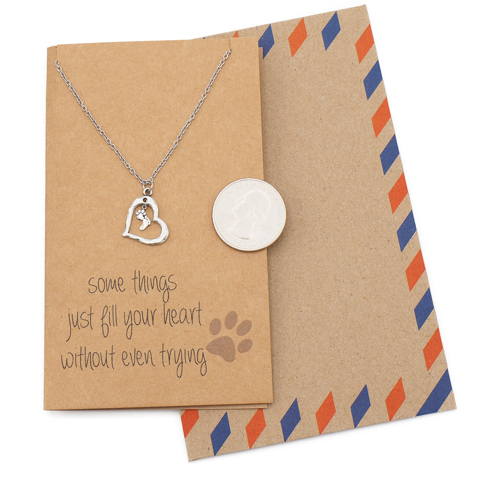 Georgia Sympathy Gifts for Dog Lovers Paw Print Necklace