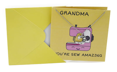 Ami Grandma Necklace Funny Puns Gifts for Grandma