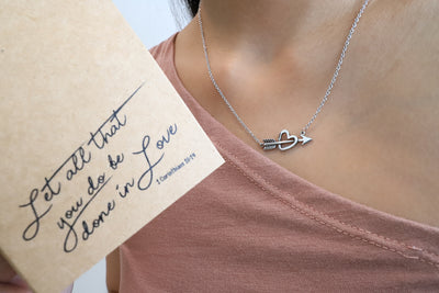 Amy Heart and Arrow Necklace for Women