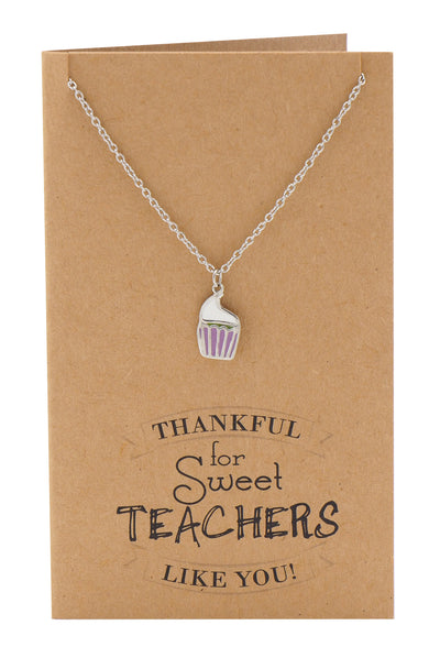 Cupcake Necklace and Thank You Cards