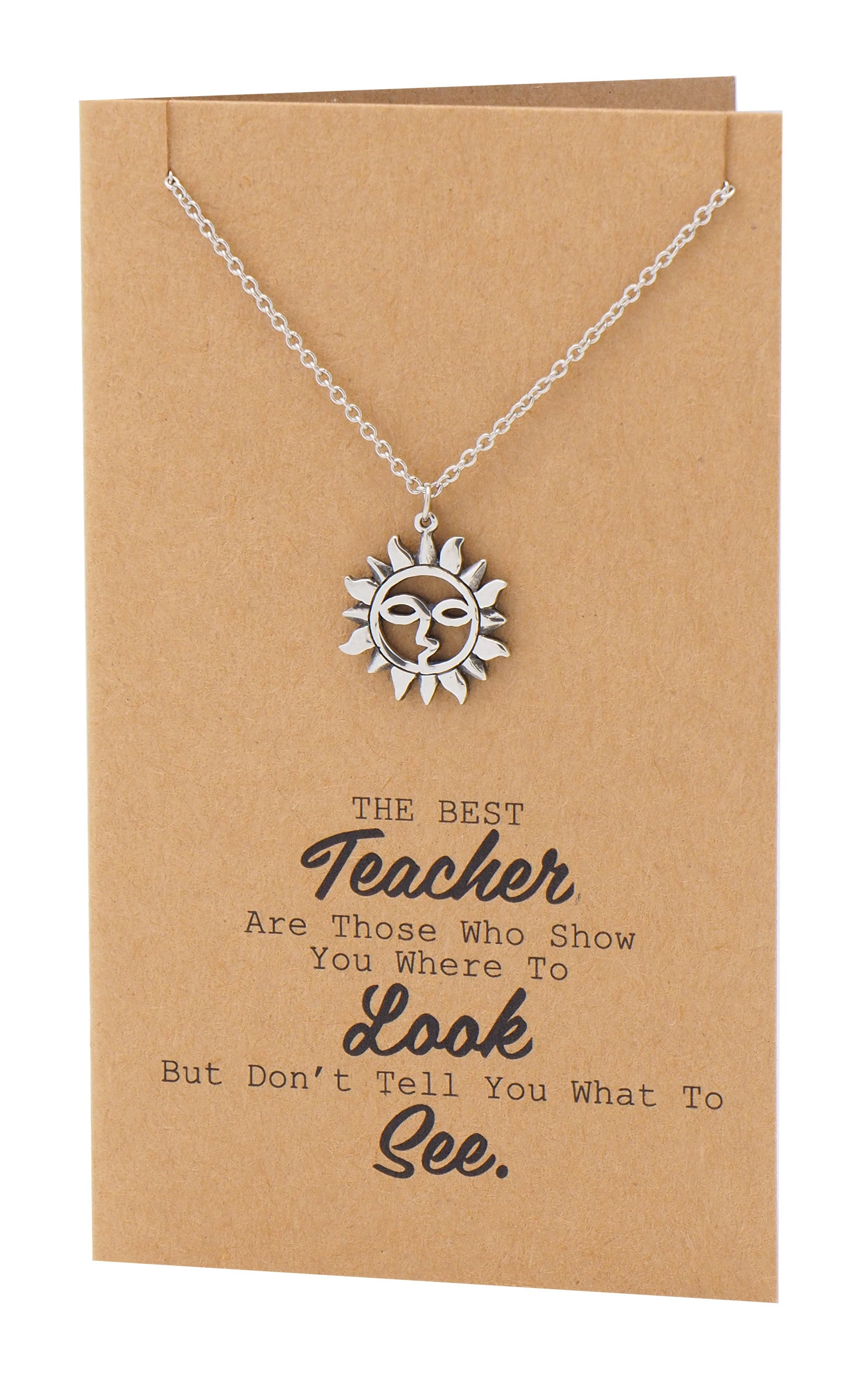 brandi teacher quotes gifts sun necklace and thank you