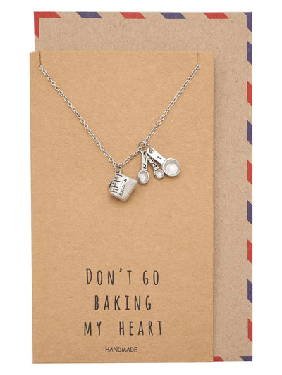 Carmel Gifts for Mom Bakers Kitchen Charm Necklace