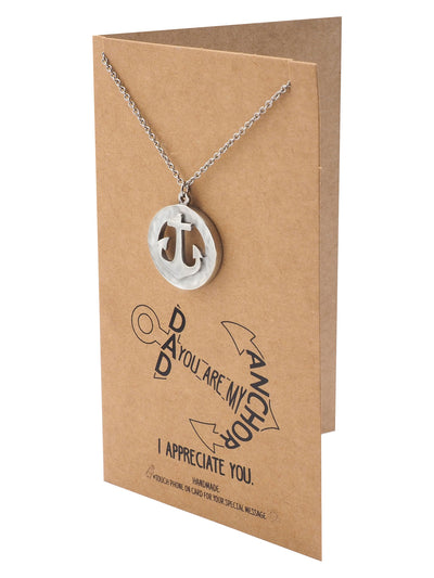 Inno Ring and Anchor Pendant Necklace