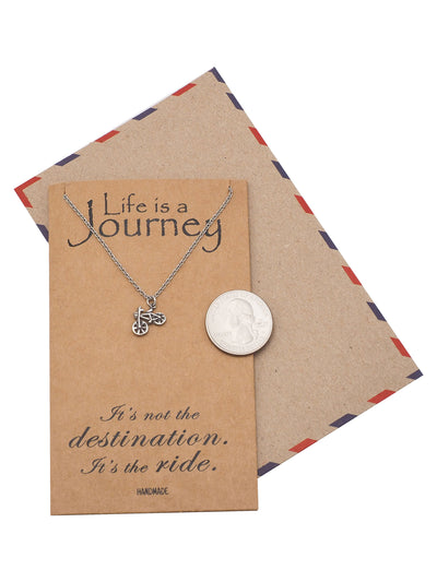 Flo Life is a Journey Necklace Gifts for Cyclists & Soul Cycle Friends