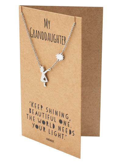 Fay Happy Birthday Granddaughter Inspirational Jewelry Quotes & Greeting Card - Quan Jewelry