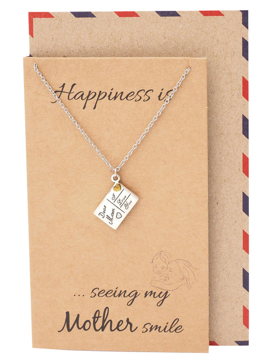 Juliana Family Necklace, Gifts for Mom, Mothers Day Gift with Greeting Card - Quan Jewelry