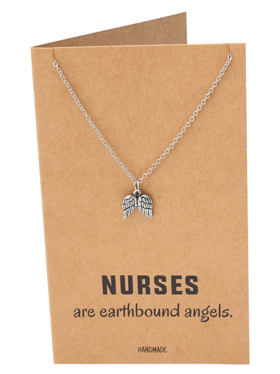 Myka Nurse Jewelry with Angel Wings Pendant
